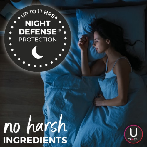 U by Kotex Security Overnight Maxi Pads Perspective: left