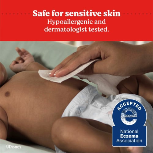 Huggies Natural Care Sensitive Unscented Baby Wipes Refill Pack Perspective: left