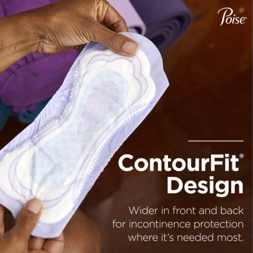 Poise® Regular Length Maximum Absorbency Incontinence Pads Perspective: left