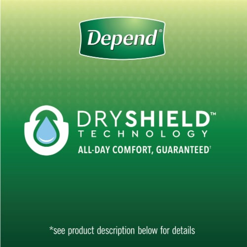 Depend Large Maximum Absorbency Fit-Flex Incontinence Underwear for Women Perspective: left