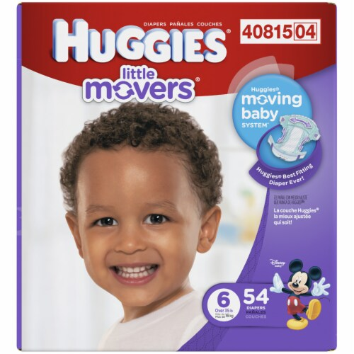 Huggies Size 6 Little Movers Diapers Perspective: left