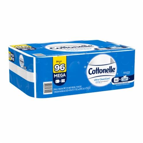 Cottonelle Ultra CleanCare Mega Toilet Paper Rolls Perspective: left