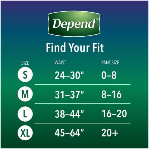 Depend Night Defense Size Medium Incontinence Underwear for Women Perspective: left