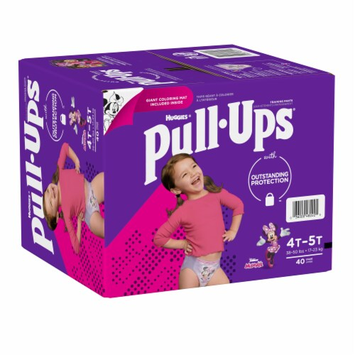 Pull-Ups Learning Designs Girls' Training Pants 4T-5T Perspective: left