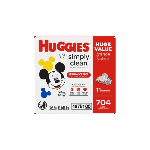 Huggies Simply Clean Unscented Baby Wipes Perspective: left