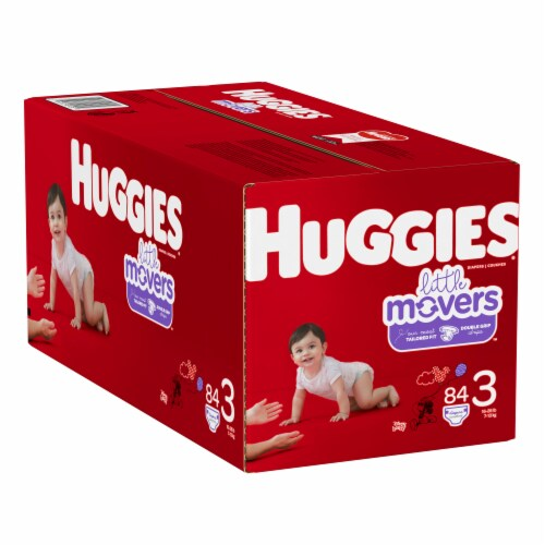 Huggies Little Movers Size 3 Diapers Perspective: left