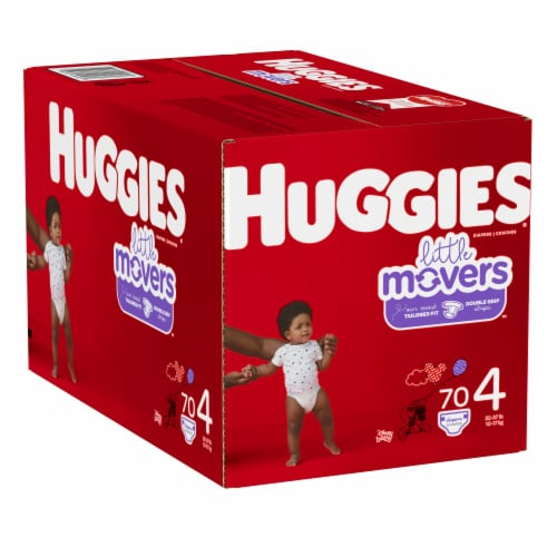 Huggies Little Movers Size 4 Diapers Perspective: left