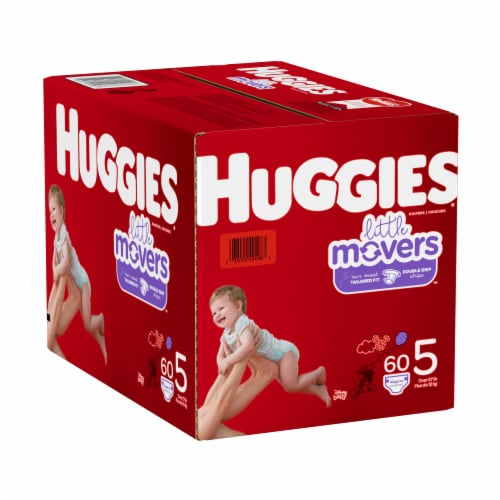 Huggies Little Movers Size 5 Diapers Perspective: left