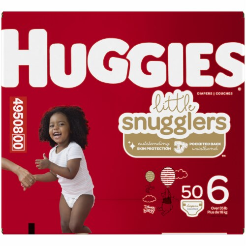 Huggies Little Snugglers Size 6 Baby Diapers Perspective: left
