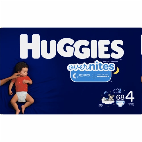Huggies Overnites Size 4 Diapers Perspective: left