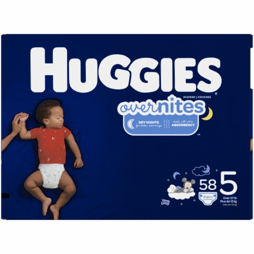 Huggies Overnites Nighttime Diapers Size 5 Perspective: left