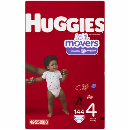 Huggies Little Movers Size 4 Diapers 144 Count Perspective: left