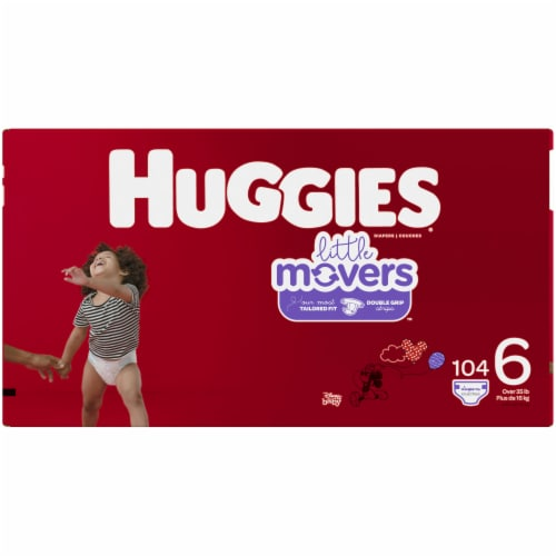 Huggies Little Movers Size 6 Diapers 104 Count Perspective: left