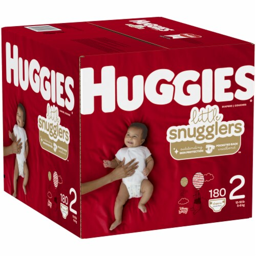 Huggies Little Snugglers Size 2 Baby Diapers Perspective: left