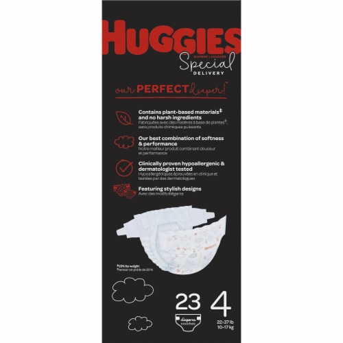 Huggies Special Delivery Size 4 Baby Diapers Perspective: left