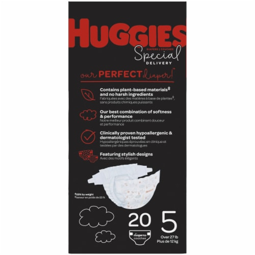 Huggies Special Delivery Size 5 Baby Diapers 20 Count Perspective: left