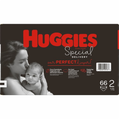 Huggies Special Delivery Size 2 Baby Diapers 66 Count Perspective: left