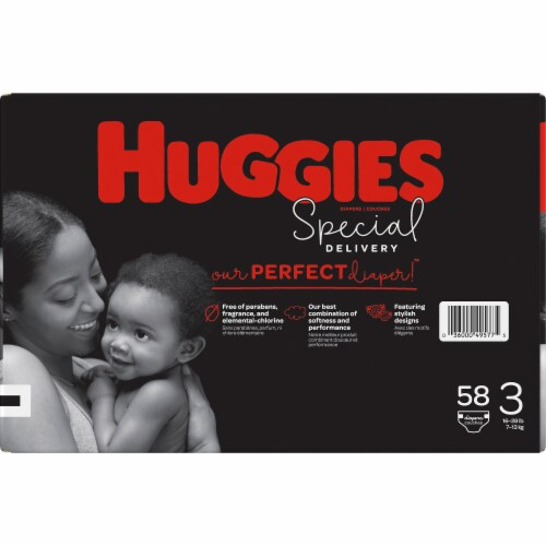 Huggies Special Delivery Size 3 Baby Diapers Perspective: left