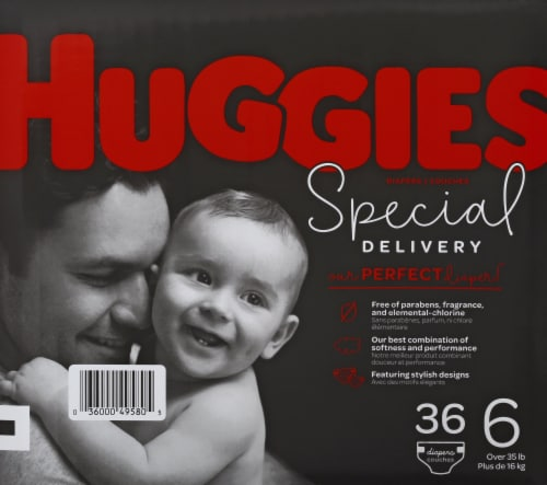 Huggies Special Delivery Size 6 Baby Diapers Perspective: left
