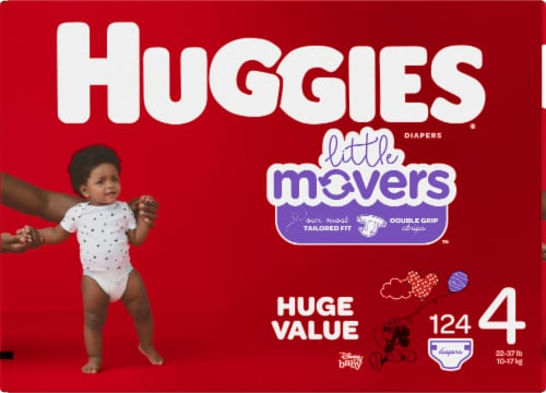Huggies Little Movers Diapers Size 4 Perspective: left