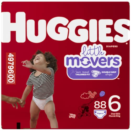 Huggies Little Movers Diapers Size 6 Perspective: left