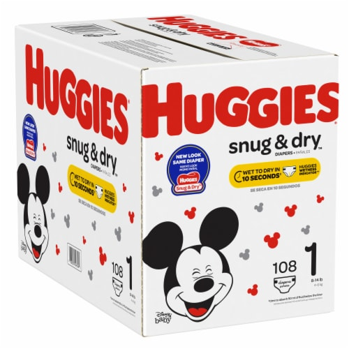 Huggies Snug & Dry Size 1 Diapers Perspective: left