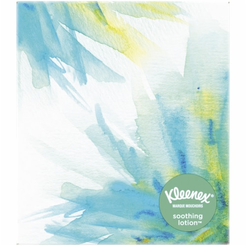 Kleenex Soothing Lotion with Aloe & Vitamin E Facial Tissues Perspective: left