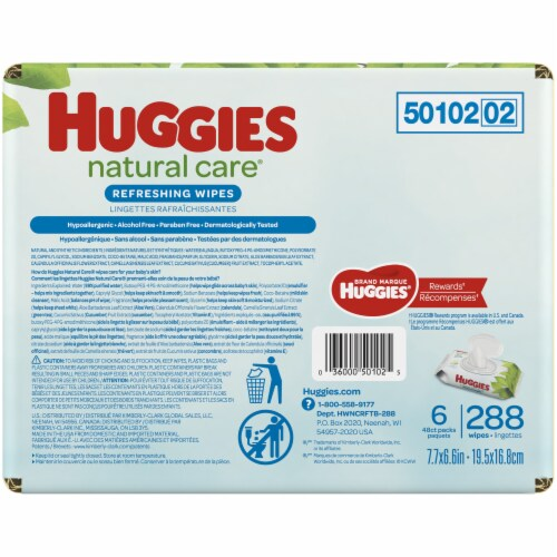 Huggies Refreshing Clean Baby Wipes Perspective: left