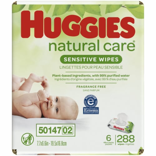 Huggies Natural Care Fragrance Free Baby Wipes Perspective: left