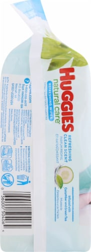 Huggies Natural Care Refreshing Cucumber & Green Tea Scent Baby Wipes Refill Pack Perspective: left