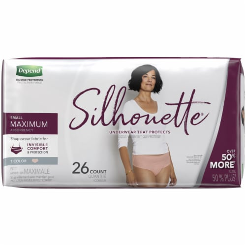 Depend Women Silhouette Max Small Underwear Perspective: left