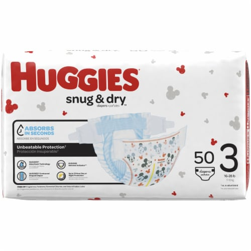 Huggies Snug and Dry Size 3 Diapers Perspective: left