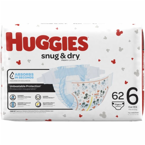 Huggies Snug and Dry Size 6 Baby Diapers Perspective: left