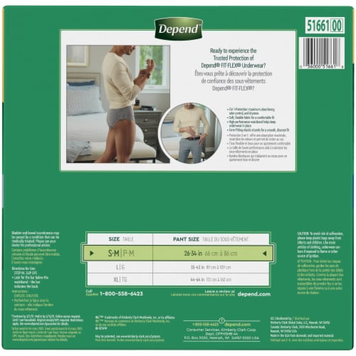 Depend Fit-Flex Maximum Absorbency Small/Medium Men's Incontinence Underwear Perspective: left