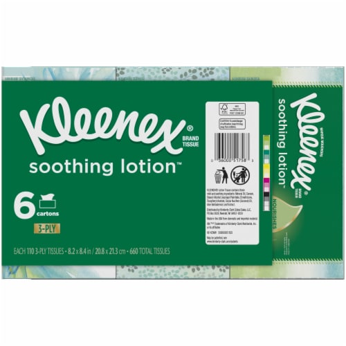 Kleenex Soothing Lotion Tissues Perspective: left