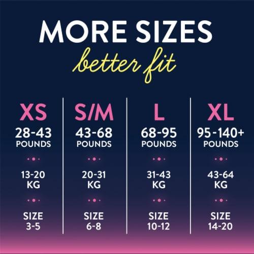 GoodNites® Large Girls' Nighttime Underwear Perspective: left