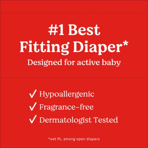 Huggies Little Movers Size 4 Baby Diapers Perspective: left