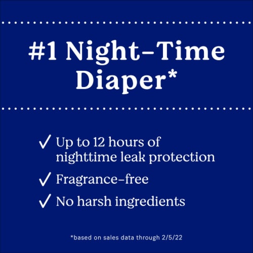 Huggies Overnites Size 6 Baby Diapers Perspective: left