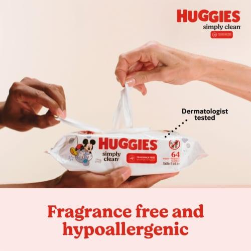 Huggies Simply Clean Fragrance Free Baby Wipes Flip-Top Packs Perspective: left