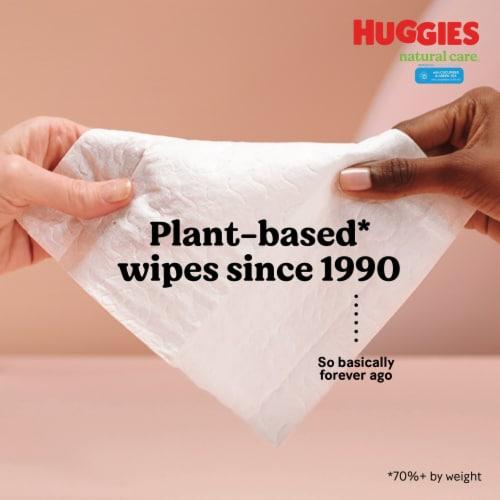 Huggies Natural Care Cucumber & Green Tea Wipes Perspective: left
