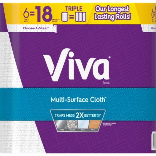 Viva Multi-Surface Cloth Paper Towels Perspective: left