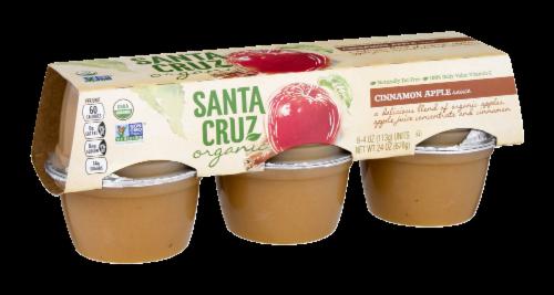 Santa Cruz Organic Applesauce Cups- Cinnamon Perspective: left