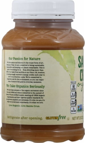 Santa Cruz Organic Cinnamon Apple Sauce Perspective: left
