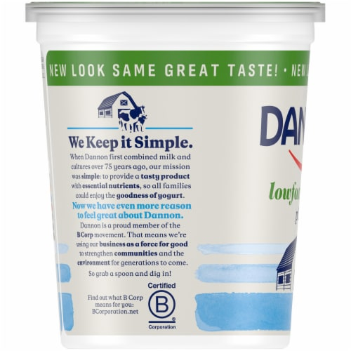 Dannon All Natural Plain Yogurt Perspective: left