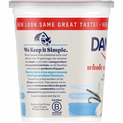 Dannon Vanilla Yogurt Perspective: left