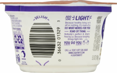 Dannon Light & Fit Toasted Marshmallow Nonfat Greek Yogurt Perspective: left
