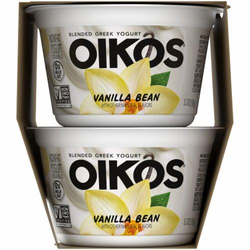 Oikos® Vanilla Bean Blended Greek Yogurt Perspective: left