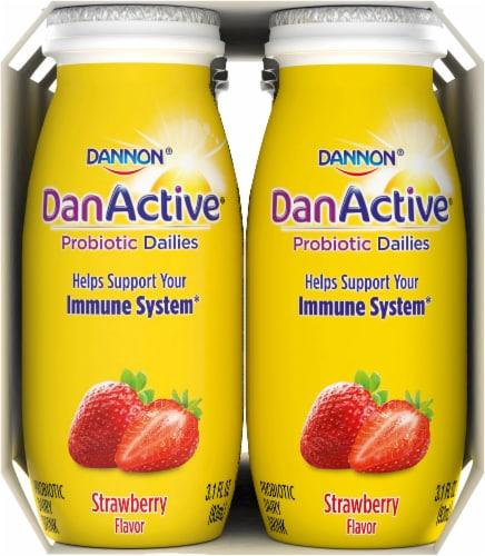 Dannon® DanActive Strawberry Yogurt Drink Perspective: left