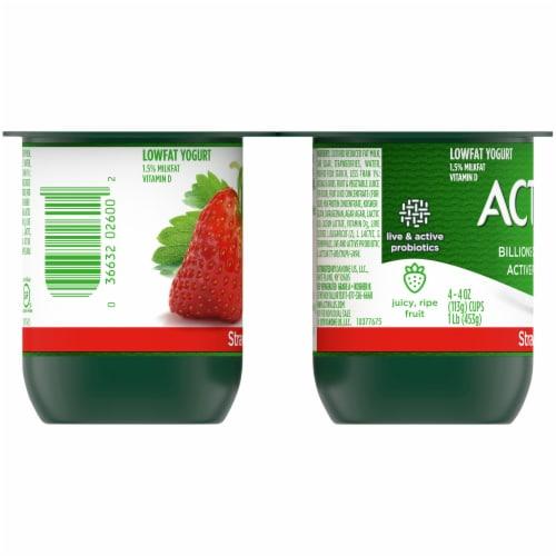 Activia® Strawberry Lowfat Probiotic Yogurt Perspective: left