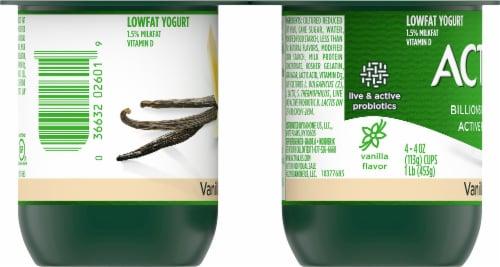 Activia Vanilla Probiotic Lowfat Yogurt Perspective: left